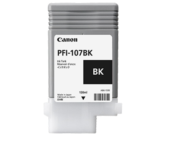 Картридж Black PFI-107 BK (черный) картридж cactus cs pfi107mbk black matte 130ml для canon ip ipf670 ipf680 ipf685 ipf770 ipf780 ipf785