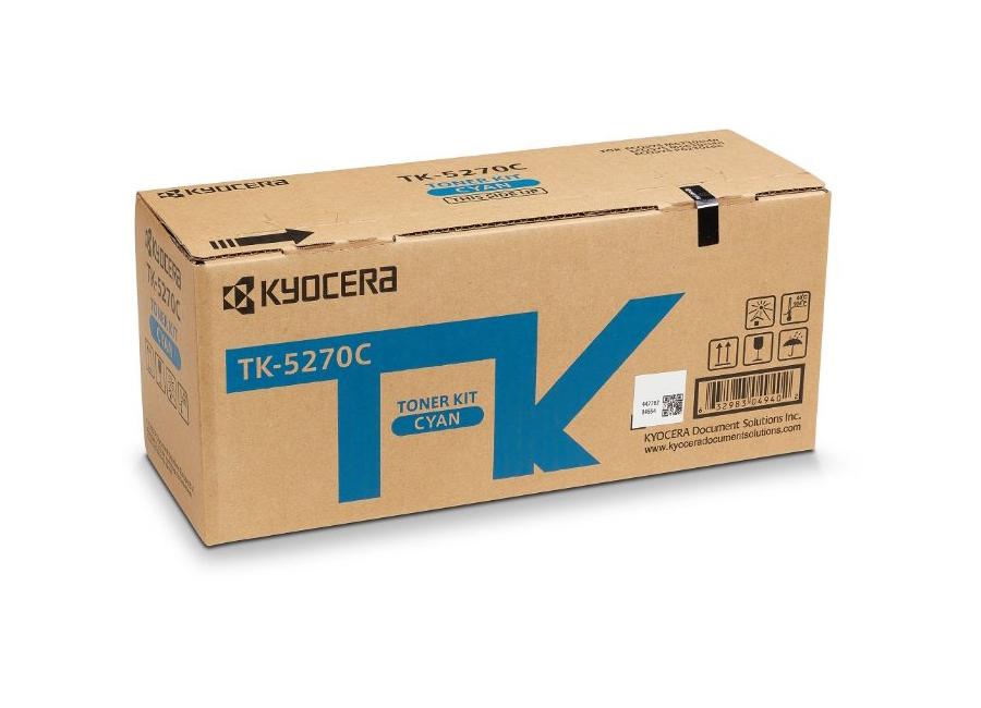 Тонер-картридж TK-5270C для P6230cdn/M6230cidn/M6630cidn картридж kyocera tk 5270c голубой