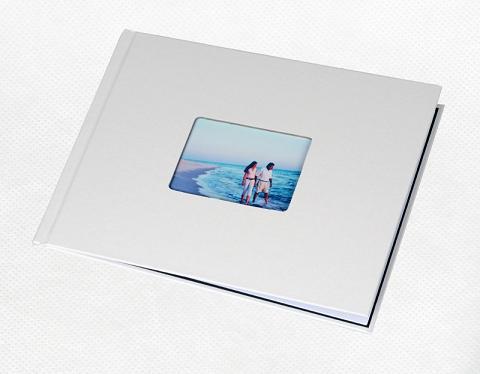 Фотообложка_Unibind альбомная 7 мм, жемчужный корпус с окном №3 Компания ForOffice 506.000