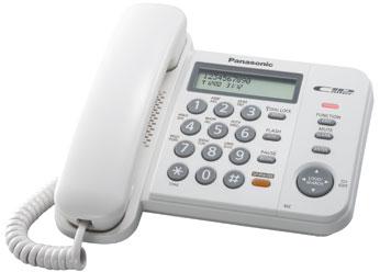 Проводной телефон_Panasonic KX-TS 2358 RUW Компания ForOffice 1173.000