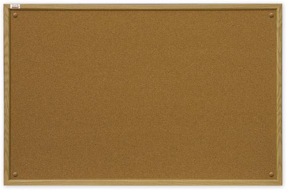 Пробковая доска 60x45 (TC456) с деревянной рамкой 2x3