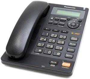KX-TS2570RUB телефон panasonic kx ts2570rub чёрный аон автоответчик спикерфон
