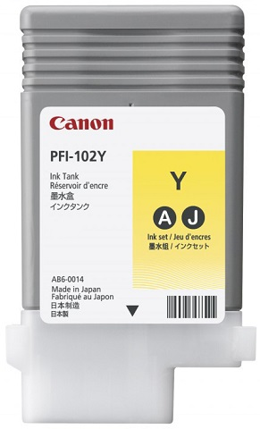 Картридж Canon Yellow PFI-102Y (желтый) 90 мл