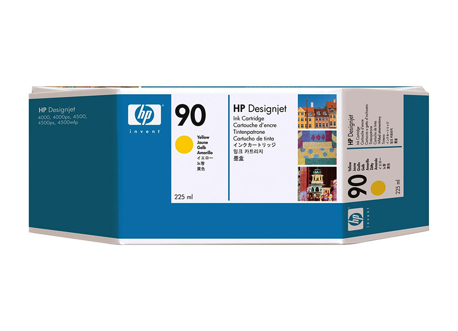 Картридж HP DesignJet Ink Cartridge HP 90 Yellow (C5064A) ink tubes system q1273 60300 q1273 60254 designjet 4000 4500ps 4520ps ink plotter printhead tube 42inch cq109 67004 q1273 60228