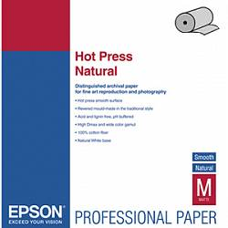 Epson Fine Art Paper Hot Press Natural 17, 432мм х 15м (300 г/м2) (C13S042323)